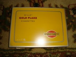 VINTAGE GOLD FLAKES CIGARETTE METAL BOX