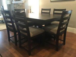 Solid WOOD Dining Table, 6 Chairs