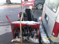 snowblower forsale 28in cut electric start,mastercraft,sussex