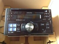 Alpine double DIN CD player