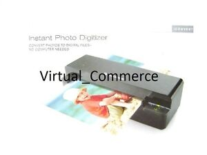Brookstone iConvert Sleek & Compact Instant Photo Digitizer up to 4x6 SD 600dpi