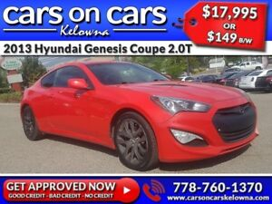 2013 Hyundai Genesis Coupe 2.0T w/BlueTooth, USB Connect $149B/W