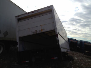 26 ft Box, with Roll-up Doors, Plastic Roof, by Morgan