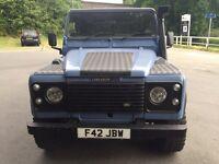 Landrover defender 110 pickup blue 90 tdi 200 300 2.5 td