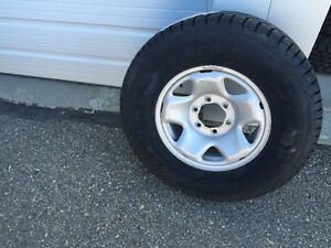 Tacoma Rims with New General Arctic Altima Winter Tires