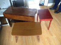 Wanted!! Bed side tables,old furniture
