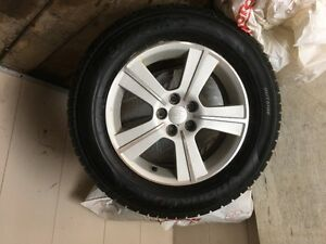 Hankook Optimo tires on Forester OEM rims