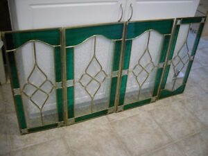 4 Lovely Pieces of Stained glass REDUCED to $100.00