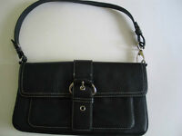 "Genuine Leather Black Handbag ""Ann Taylor"" LOFT"