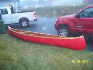 60 year old Peterborough cedar canoe restored 16 '