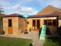 Timber buildings, summerhouses,garden offices,patios and decking