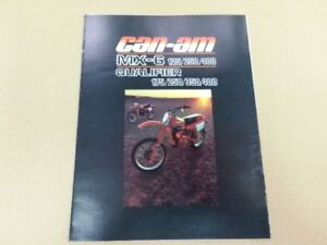 1980 can am MX 6 125 250 400 qualifier brochure mint.