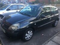 Renault Clio authentique 1.2 petrol black manual,12months MOT QUICK SALE!!! BARGAIN!!!