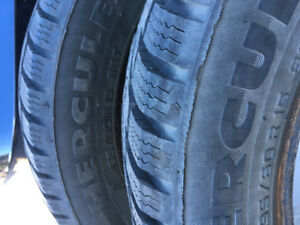 195/60R15 Hercules winter tires. Excellent condition!!!