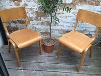 Pair of child's chairs