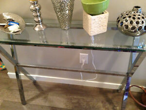 Glass side table. Bought at bouclair Regina Regina Area image 1