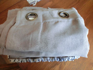 4 Dove Grey Faux Suede Drapery Panels Asking $40.00