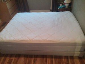 Queen size mattress with box + linen cover - MUST GO! Peterborough Peterborough Area image 1