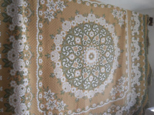 Look at the multiple patterns of this eye catching BED COVER