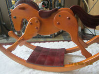 INCREDIBLE WOODEN ROCKING HORSE