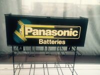 Panasonic battery counter top display stand