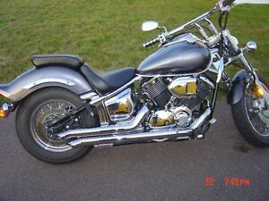 2005 V-Star Custom with Special ghost flame paint