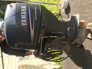 2002 Yamaha 50 hp 4 stroke boat motor