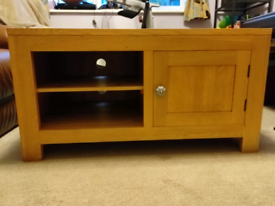 Solid oak cabinet with shelves