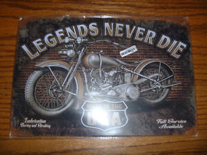 METAL SIGN MOTORCYCLE 8 X 12
