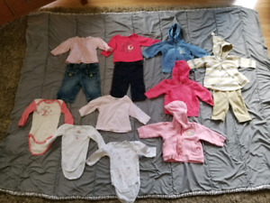 Baby girl size 3- 6 months clothes