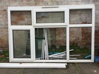 Large Double Glazed Window Frame White PVC