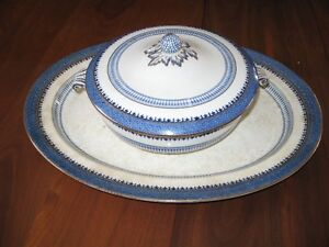 large platter and covered dish-very old