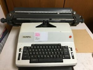 Olympia typewriter and table