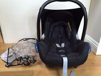 Maxi Cosi Cabriofix car seat & raincover