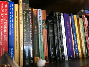 New Age books about Paganism, Wiccan, Crystals, Tarot, etc
