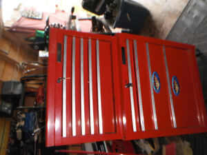 Two Piece Stand Up Toolbox.With some tools