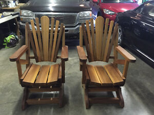 Solid cedar rocking chairs