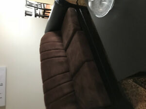 Two piece furniture black and dark brown