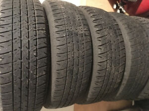 Bridgestone summer tires with rims