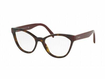 Prada Eyewear PR02TV USH1O1 54 Havana Glasses Optical Frames