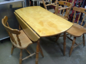Solid wood table and chairs -  for sale - plus more..