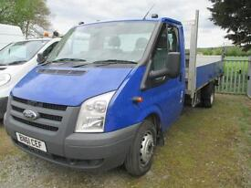 2011 Ford Transit 2.4TDCi 1 owner diesel lwb 14ft dropside pickup tail lift pas