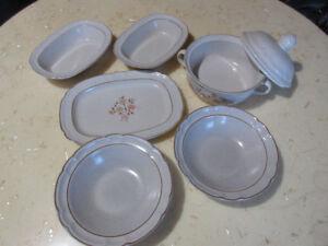 Beige serving dishes