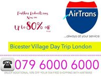 LONDON TO BICESTER VILLAGE SHOP DAY TRIP SHOPPING BOSS GUCCI POLO DISCOUNT UPTO 8 PEOPLE RETURN EAT
