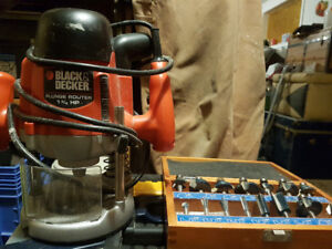 For sale 1.75 horsepower plunge router with bits
