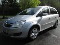 09/09 VAUXHALL ZAFIRA 1.6 EXCLUSIVE 7 SEAT MPV IN MET SILVER