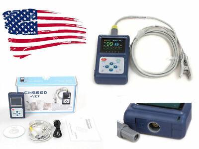 Vet Animal Veterinary Spo2 Pulse Oximeter Monitor With Tongue Ear Probeusb Sw
