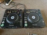 Pair of Pioneer CDJ1000 MK3 CD Decks