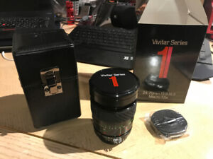 New Vivitar Series 1 24-70mm f3.8-4.8 Lens for Nikon film camera