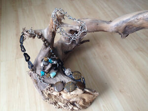 Three gorgeous Pieces of Bejewel Jewelry Bracelets and Necklace